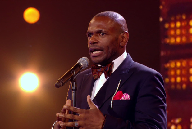 Anton Stephans performs for X Factor's Six Chair Challenge 18 October