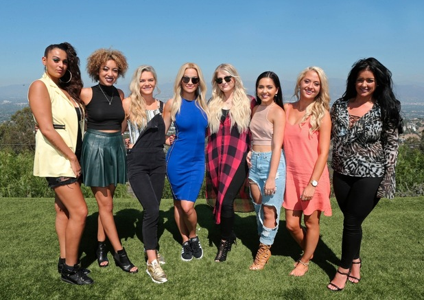 X Factor judge Rita Ora with her girls category in LA for Judges Houses, 20th October 2015