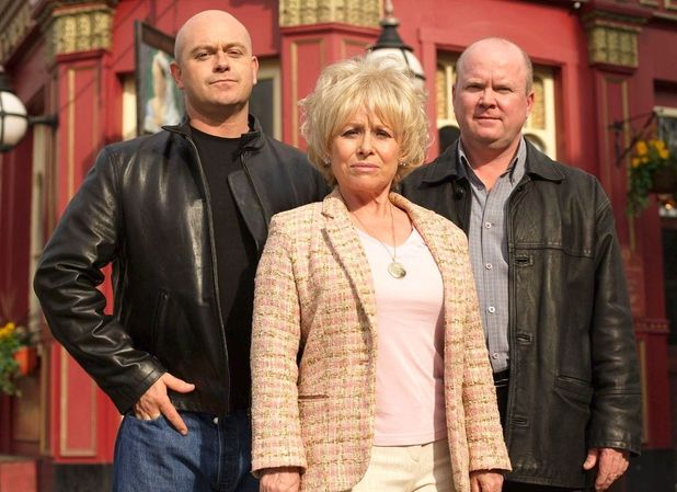 EastEnders: Peggy, Grant and Phil Mitchell.