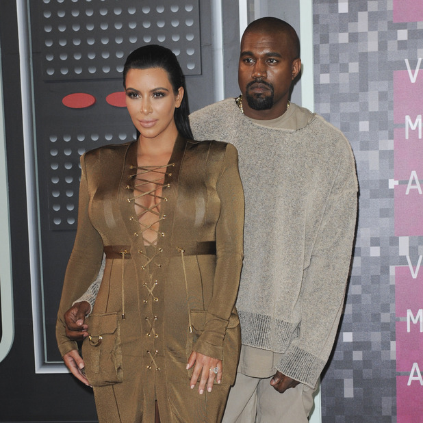 Kim Kardashian and Kanye West The MTV Video Music Awards 2015 Arrivals 31 August