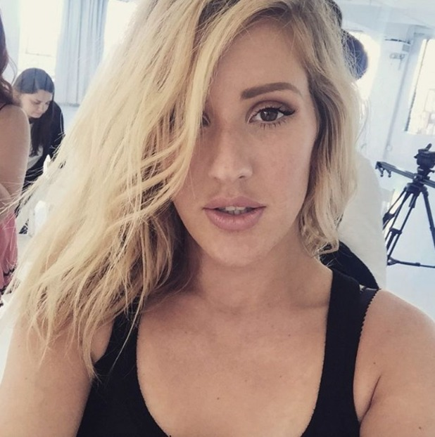 Ellie Goulding selfie on photoshoot, 15 September 2015