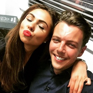 TOWIE's Fran Parman and James 'Diags' Bennewith pose for cute selfie - October 2015.