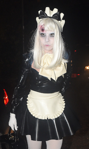 Paloma Faith attends Jonathan Ross' annual Halloween Party, held at his home in Hampstead, 31 October 2015.