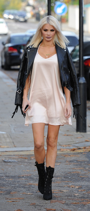 Chloe Sims out and about in Loughton, Essex, 26th October 2015