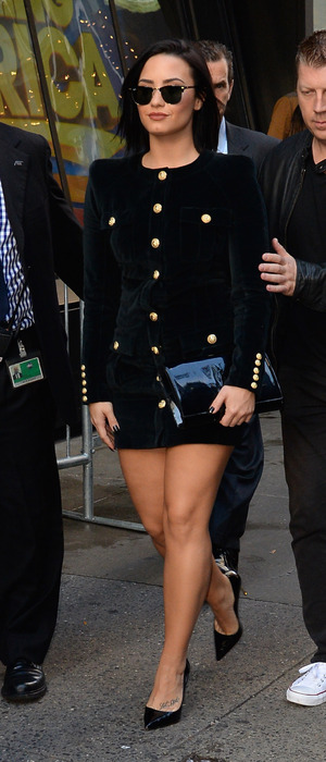Demi Lovato out and about in New York, on way to film Good Morning America, 29th October 2015