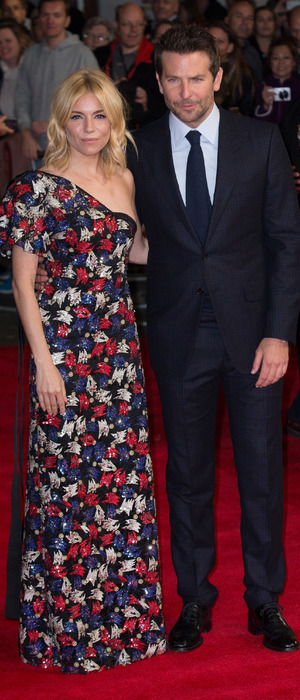 Sienna Miller and Bradley Cooper at the Burnt premiere in London, 29th October 2015
