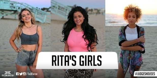 Rita Ora and her final three girls for live shows, The X Factor 26 October