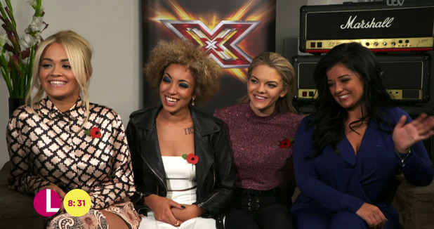 Rita Ora speaking to 'Lorraine' ahead of the live shows stage of The X Factor - 29 October 2015.