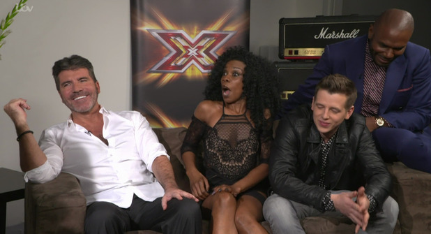 simon Cowell speaking to This Morning ahead of the live shows stage of The X Factor - 30 October 2015.