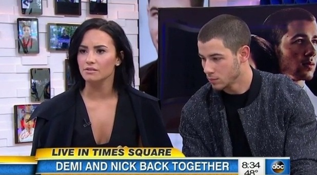 Demi Lovato and Nick Jonas appear on Good Morning America, New York 26 October