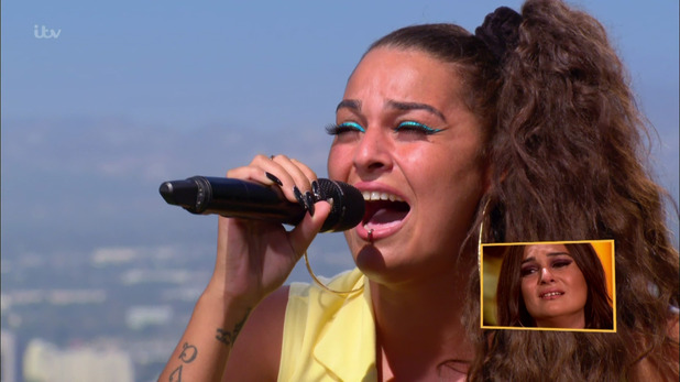 Monica Michael performing at the Judges' Houses stage of 'The X Factor', 25th October 2015