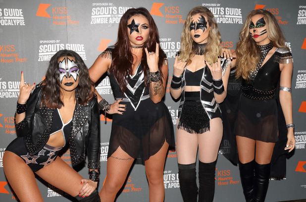Little Mixx pose at Kiss FM's Haunted House Party at SSE Wembley Arena - Red Carpet Arrivals 29th October 2015