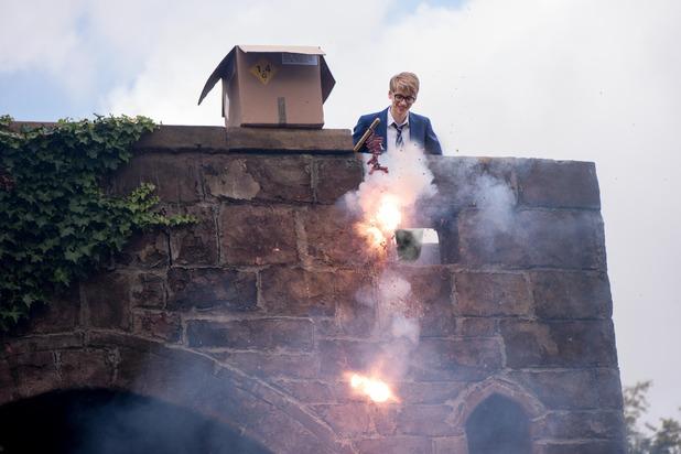 Hollyoaks, Alfie lets off fireworks, Tue 3 Nov