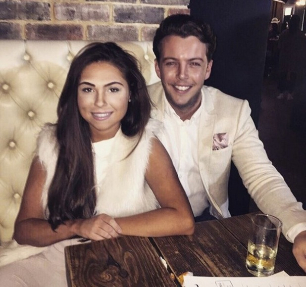 TOWIE's Fran Parman and James 'Diags' Bennewith at dinner - October 2015.