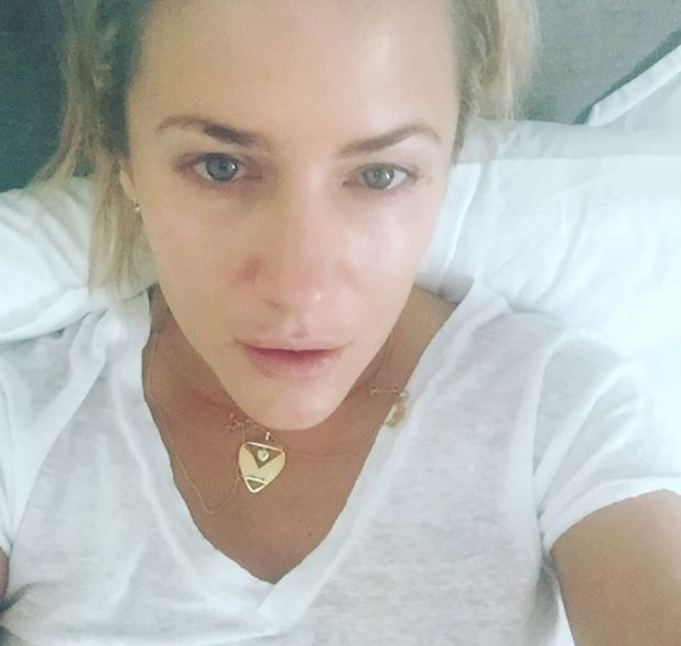 Caroline Flack is ill with the flu, Instagram 27 October