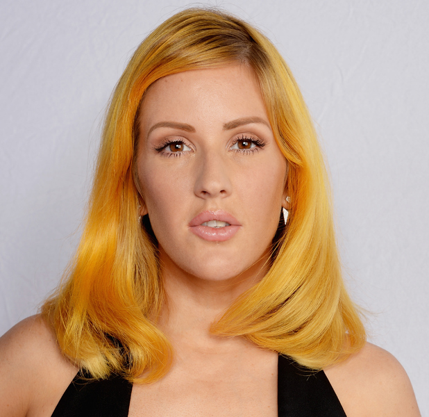 Ellie Goulding shows off bright yellow hair at the MTV EMAs 2015 in Milan, Italy, 26th October 2015