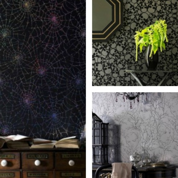 Graham and Brown wallpaper: skulls, goddesses and spider webs