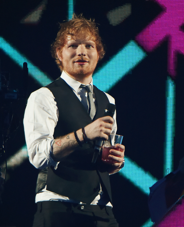 Ed Sheeran presents on stage at MTV EMA's 2015 in Milan, Italy - 25th October 2015