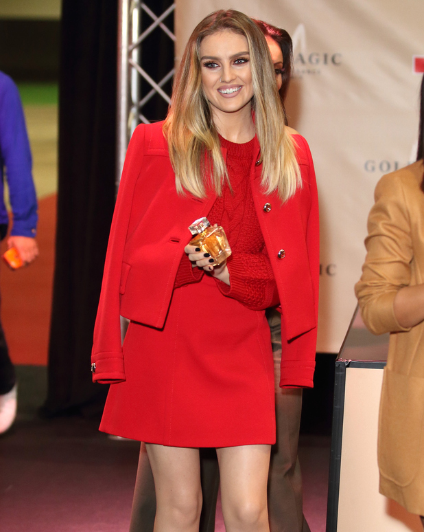 Perrie Edwards from Little Mix attends signing for their new fragrance, 'Gold Magic' at Bluewater Shopping Centre