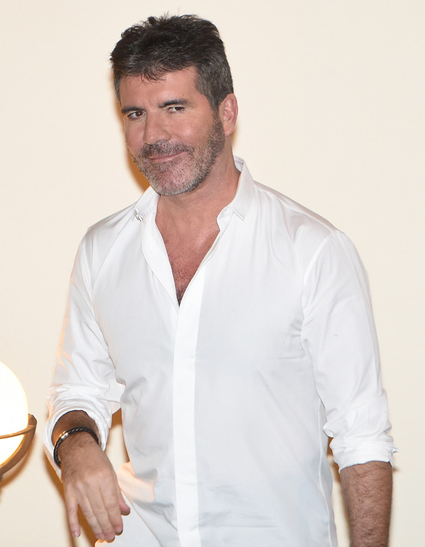 X Factor judge Simon Cowell leaving Fountain Studios - 25 October 2015.