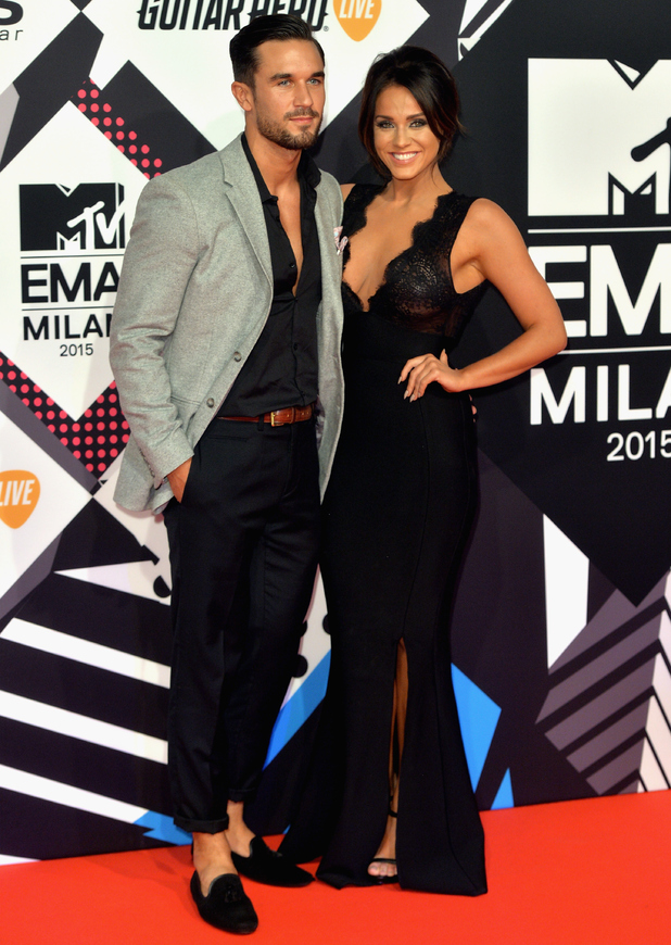 Vicky Pattison and Alex Cannon at MTV EMAs, Milan 25 October