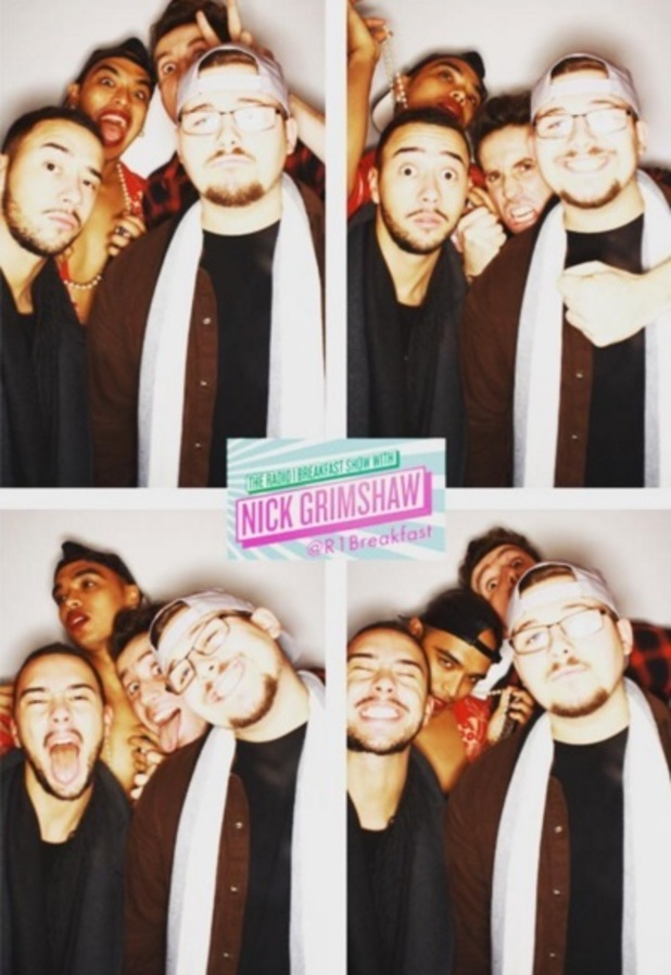Nick Grimshaw, Sean Miley Moore, Che Chesterman and Mason Noise, Radio 1 Breakfast Show 28 October