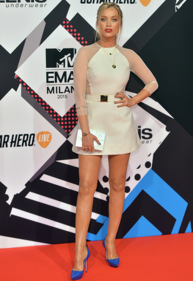 Laura Whitmore at the MTV EMA's 2015 in Milan, Italy 26th October 2015
