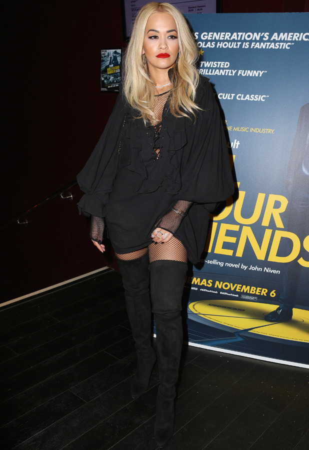 Rita Ora attends the Kill Your Friends premiere at London's Soho House, 28th October 2015