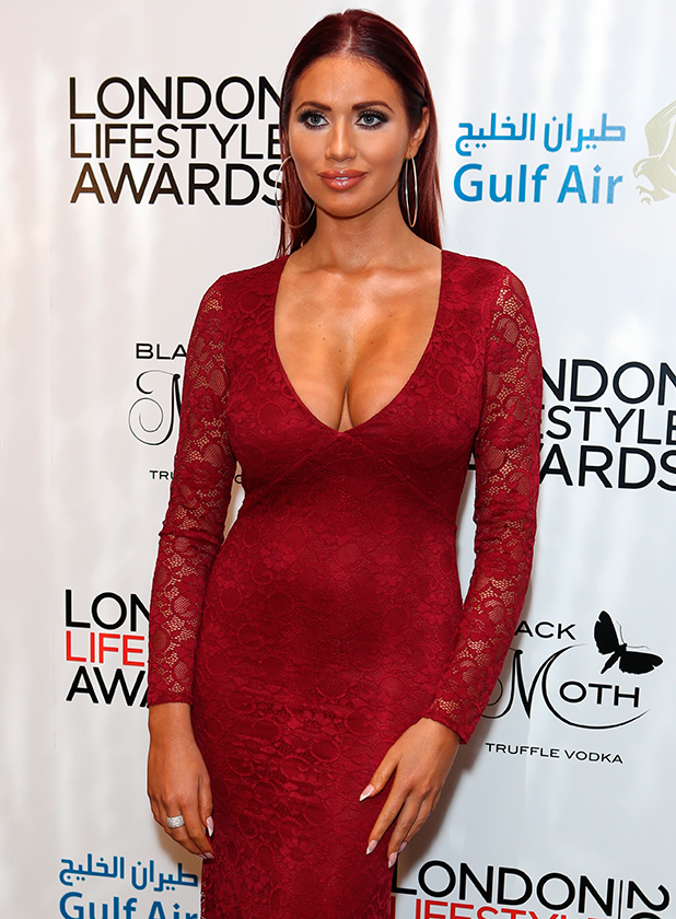 Guests arrivals at the London Lifestyle Awards 2015 Amy Childs