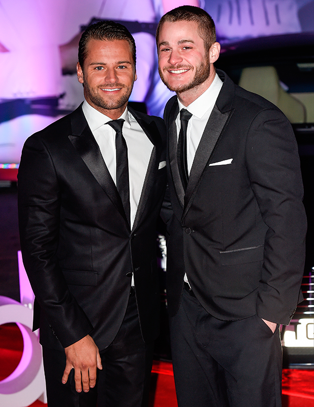 Spectre Premiere at grand opening of Cineworld Resorts World Birmingham James Hill and Austin Armacost
