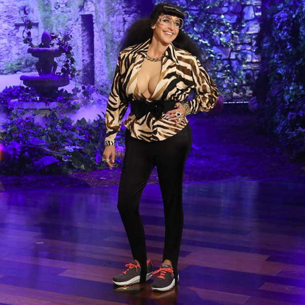 Ellen DeGeneres dressed as Karla Kardashian, Halloween Show 2015