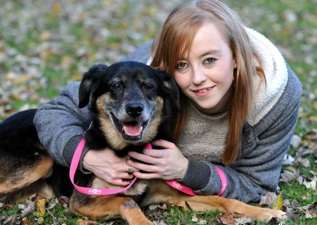 PDSA warns animal owners to be vigilant at Halloween and Bonfire Night Kirsty Burton with dog Zakk