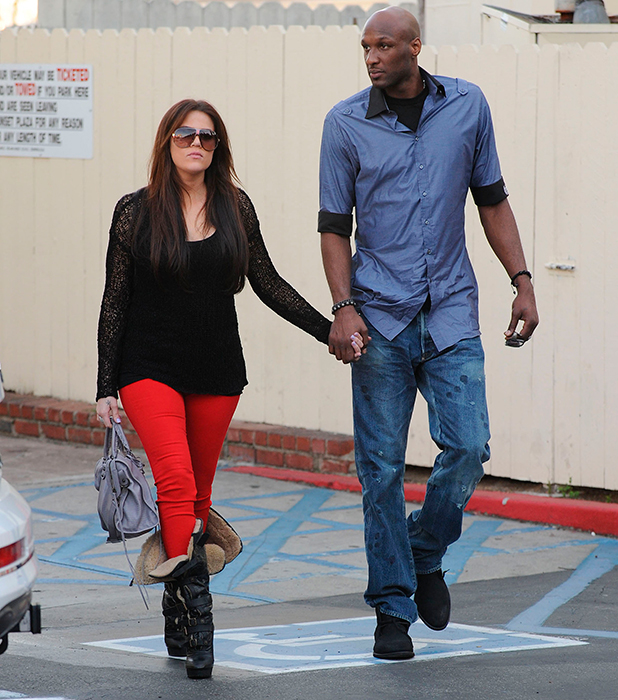 Khloe Kardashian and Lamar Odom leaving Cafe Med after filming for their reality show Los Angeles, California - 15.03.11