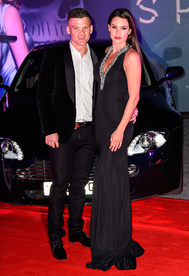 Spectre Premiere at grand opening of Cineworld Resorts World in Birmingham Danielle Lloyd and Michael O'Neill