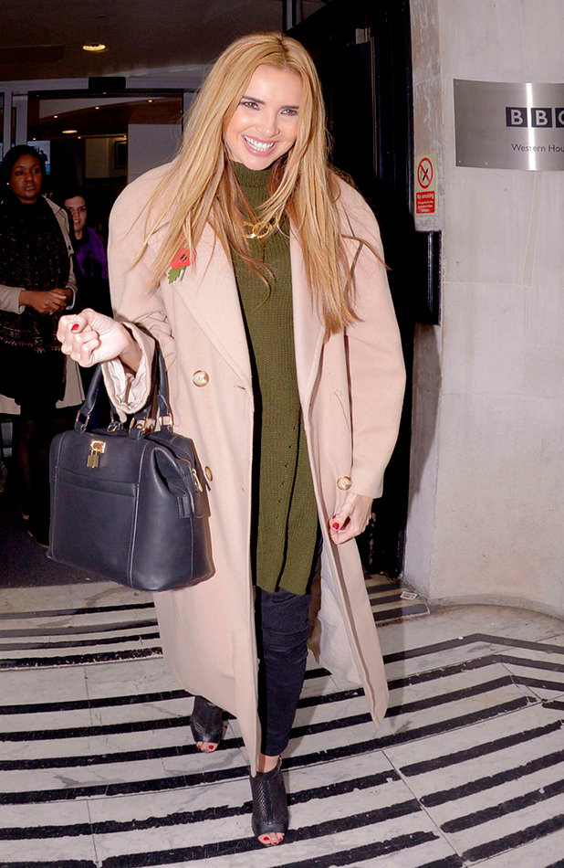 Nadine Coyle at the studios of BBC Radio 2 29 Oct 2015