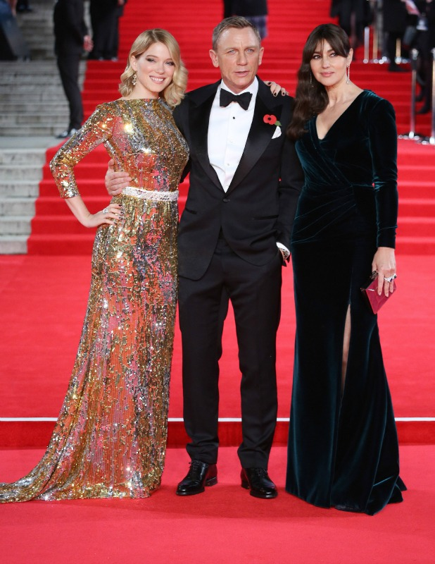 James Bond Spectre World Premiere held at Royal Albert Hall - Arrivals Léa Seydoux,Daniel Craig,Monica Bellucci