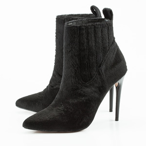 Jess Wright Footwear Shoe Collection, Apollia Black Faux Hair Boots £64, 2nd November 2015