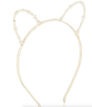 CATS EARS PEARL ALICE BAND, Accessorize