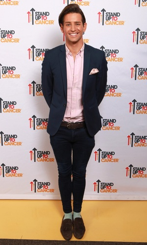 Ollie Locke at Stand Up To Cancer's YouTube party - SU2C. October 2015.