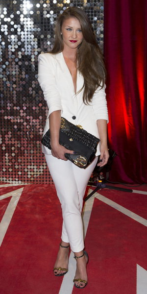 Brooke Vincent wears white Zara suit to British Soap Awards 2013