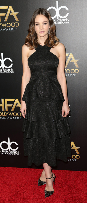 Carey Mulligan wearing black dress at the 19th Annual Hollywood Film Awards at The Beverly Hilton Hotel in Beverly Hills, 2nd November 2015
