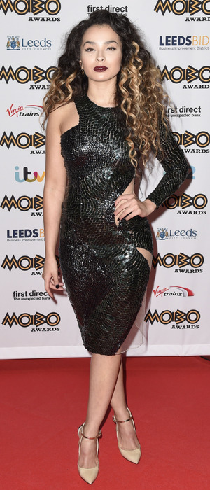 Ella Eyre attends the Mobo Awards in Leeds 5th November 2015