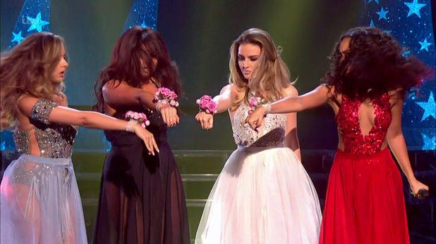 Little Mix during X Factor performance, 2nd November 2015
