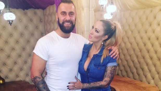 Jodie Marsh and husband James Placido on dinner date 3 November