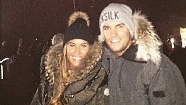 Gary Beadle and girlfriend Lillie Lexie Gregg at the fireworks 5 November