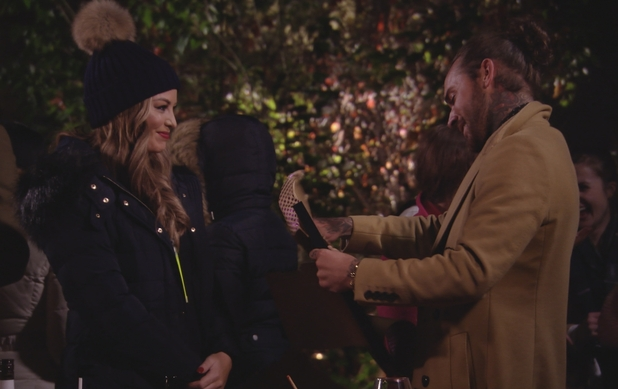 TOWIE: Jess gives Pete his present. Episode airs: Wednesday 4th November