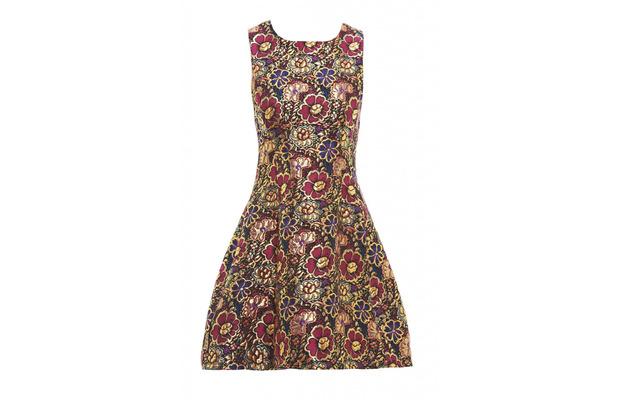 AX Paris Metallic Floral Skater Dress worn by MIC's Stephanie Pratt, £40, 3rd November 2025