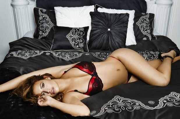 Ferne McCann models By Caprice lingerie range