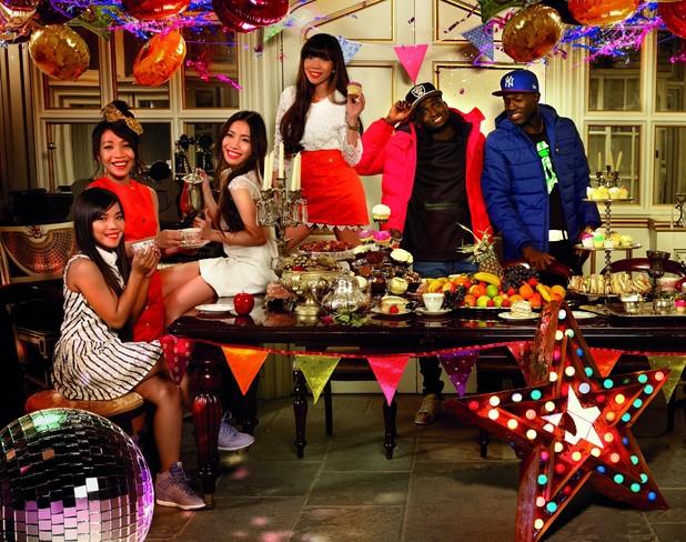 X Factor Very.co.uk photo shoot - groups photo - 3 November 2015.