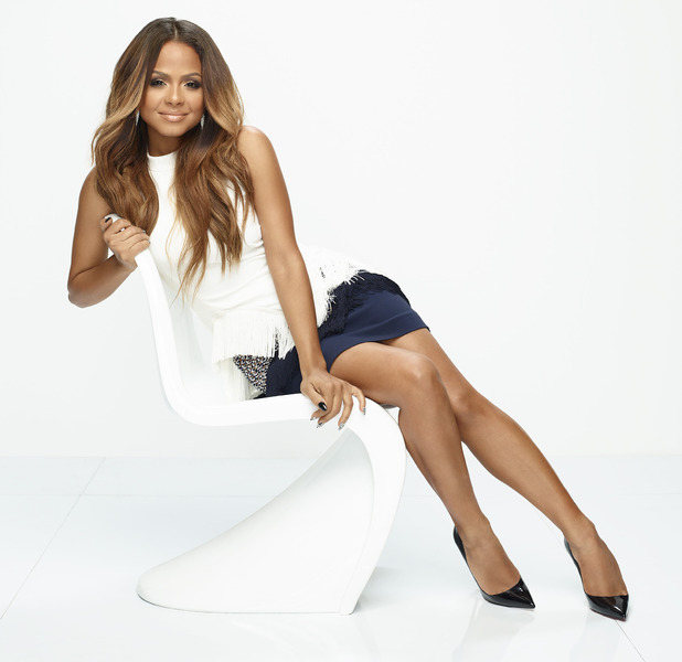 Christina Milian poses in white ahead of second reality series, Christina Milian Turned Up, 6th November 2015